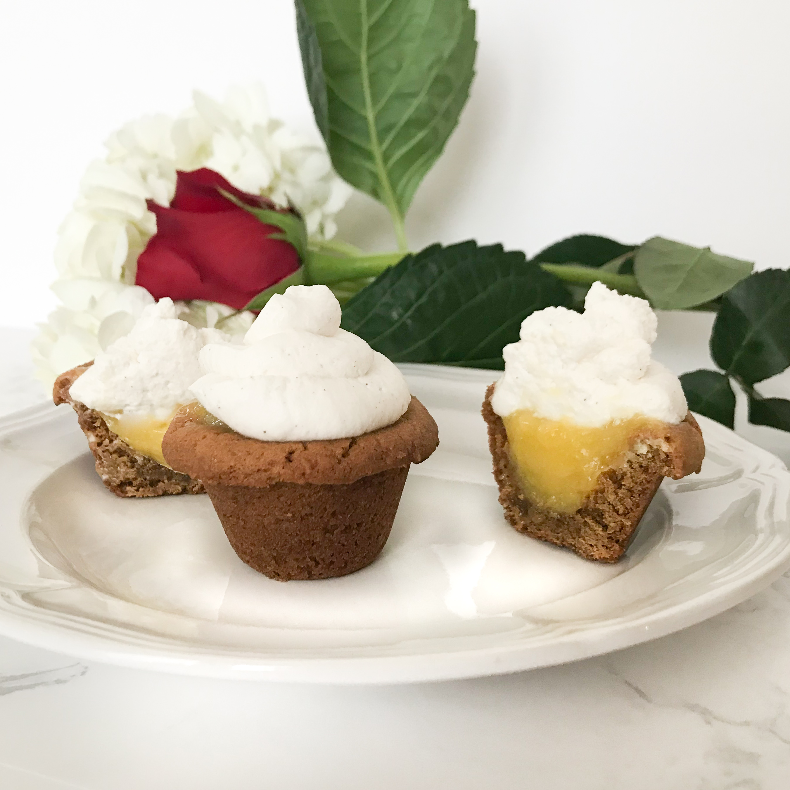 Lemony Ginger Cups with Cannoli Cream